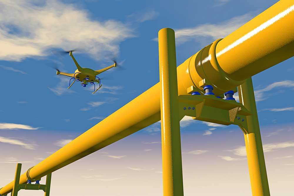 drone surveying pipelines